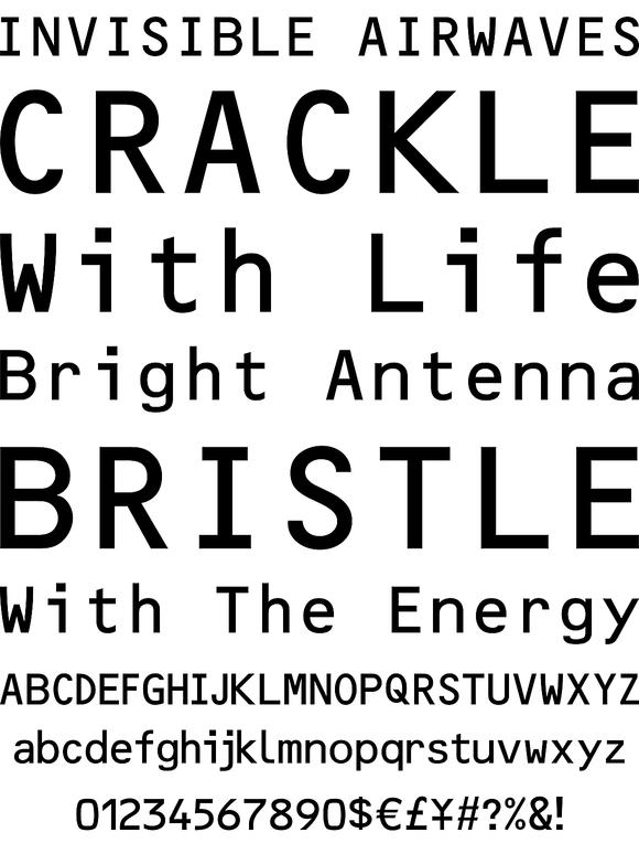 OCR B Letterpress