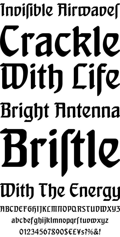 FontForum Behrens Schrift