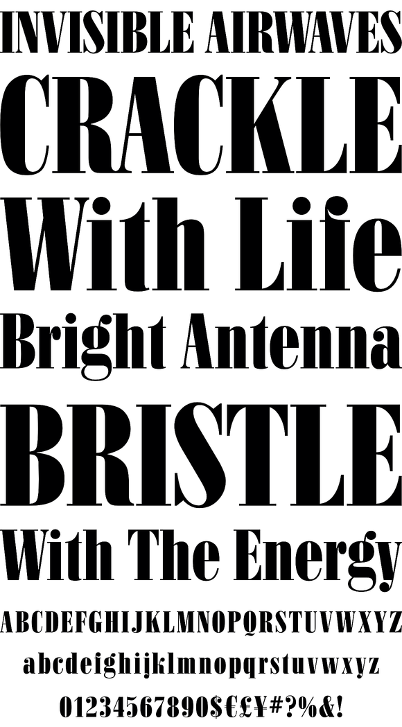 Bodoni Condensed Black