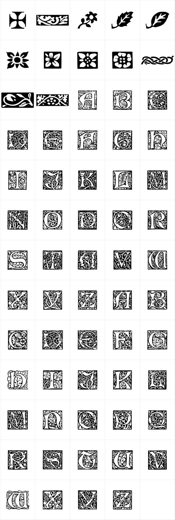P22 Morris Ornaments