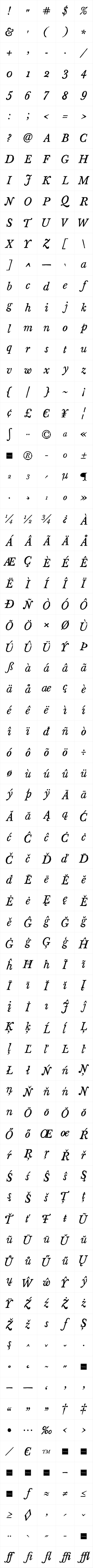 Sketch Caslon Italic