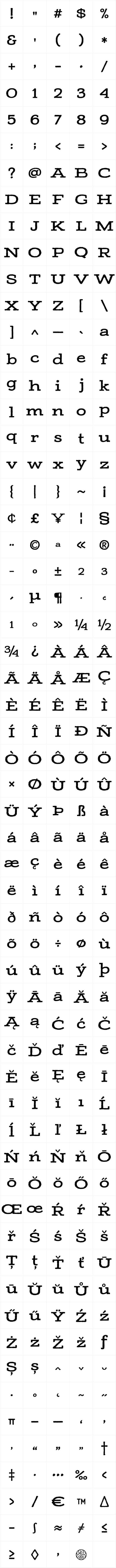 Adorn Slab Serif Bold