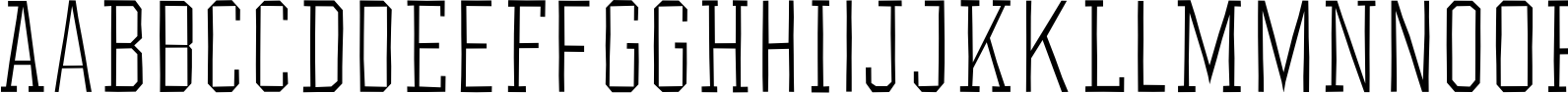 YWFT League Thin Font