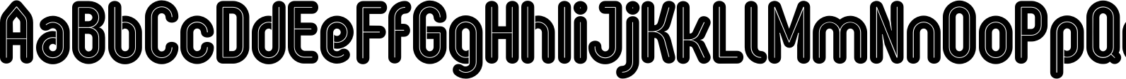 Oval Double Font