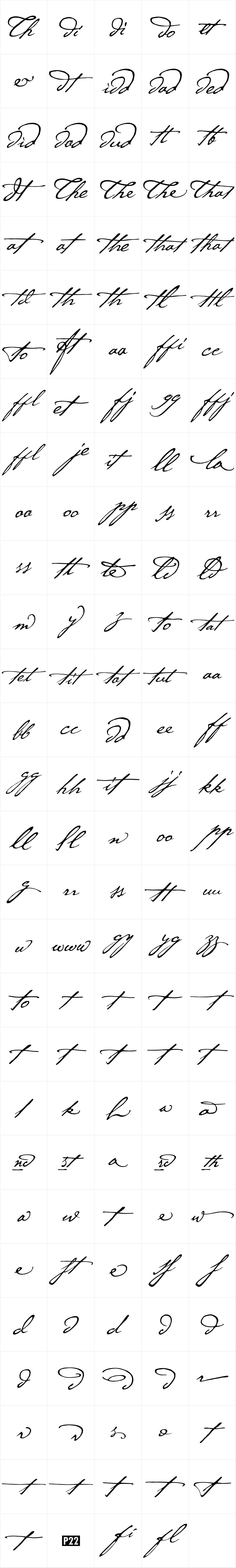 P22 Cezanne Ligatures