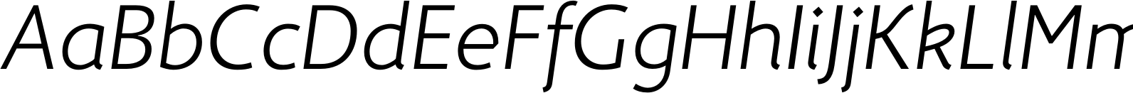 Fox Sans TRF Light Italic