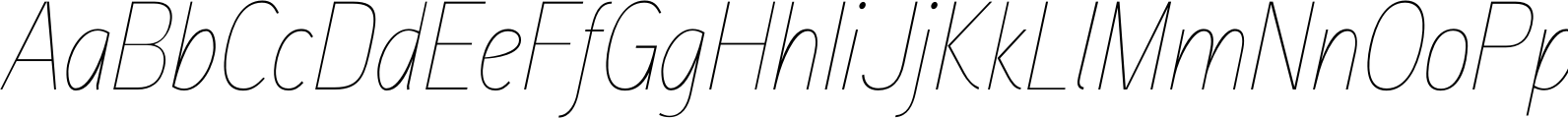 Aaux Next Cond Hairline Italic Font