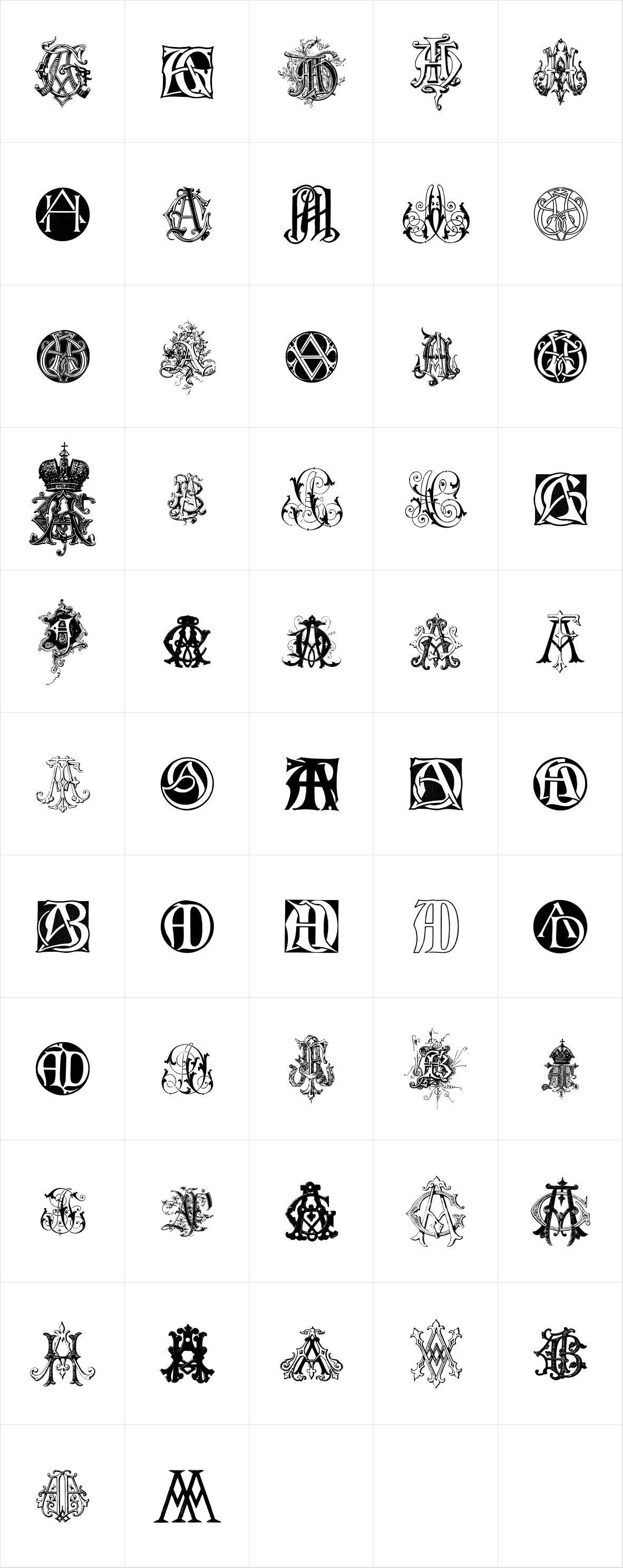 Intellecta Monograms AA AH New Series