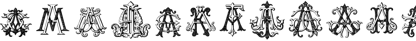 Intellecta Monograms AAAS Font