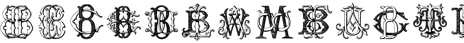Intellecta Monograms ATBM Font