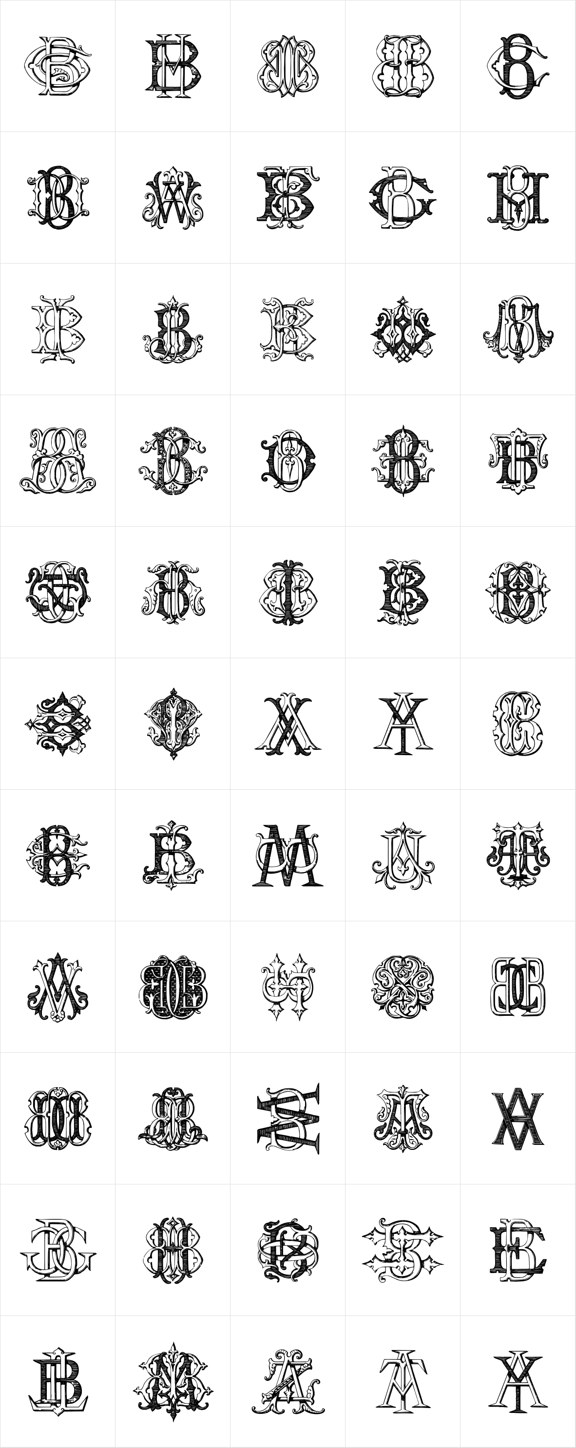 Intellecta Monograms ATBM