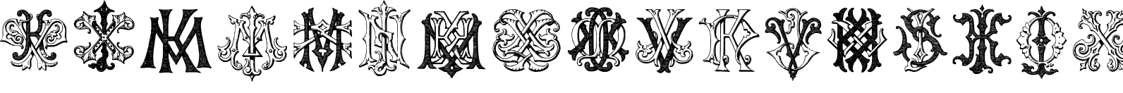 Intellecta Monograms IZKX Font