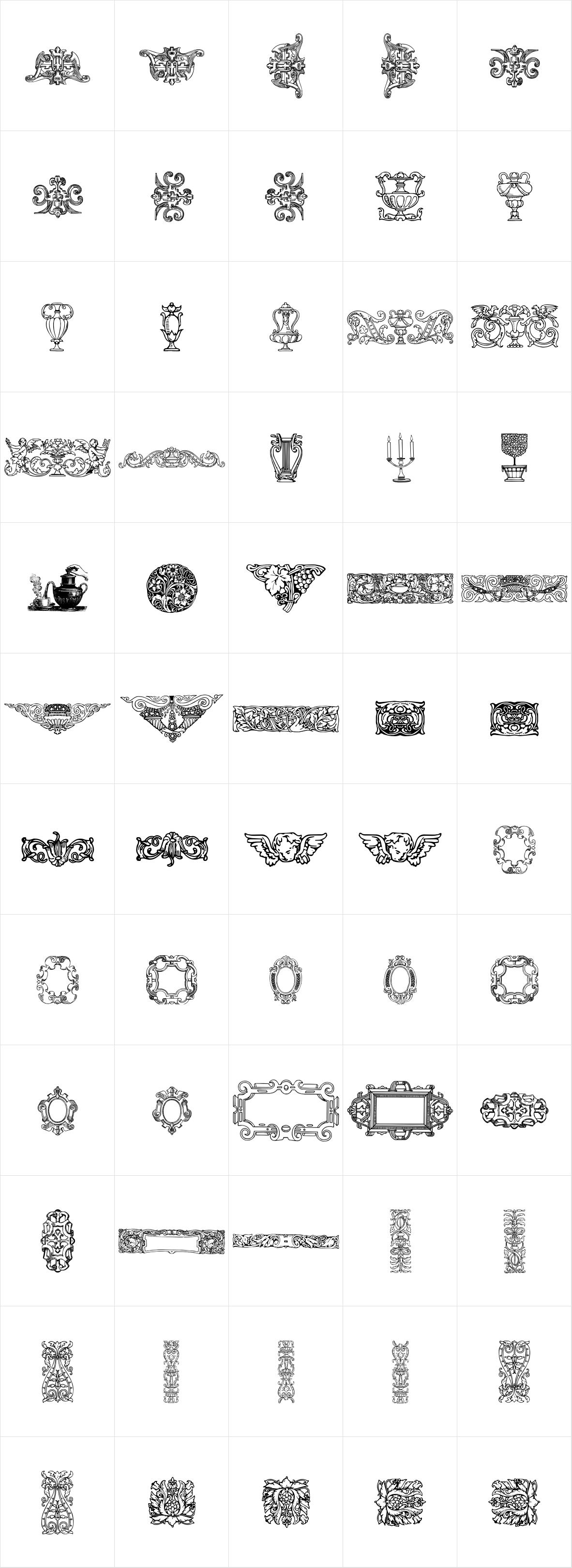 Mortised Ornaments