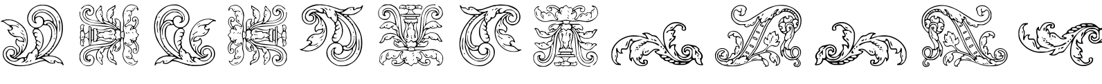 Mortised Ornaments Two Font