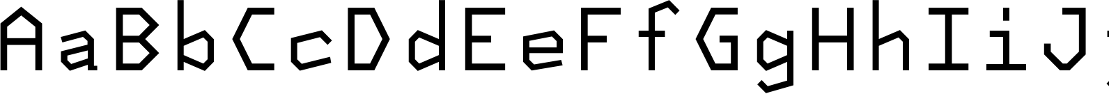 NeueKonst Square Regular Font