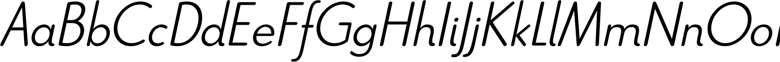 Le Havre Rounded Light Italic Font