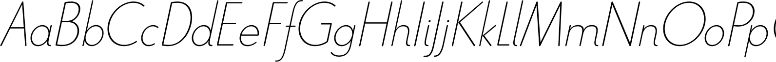 Le Havre Rounded Thin Italic Font