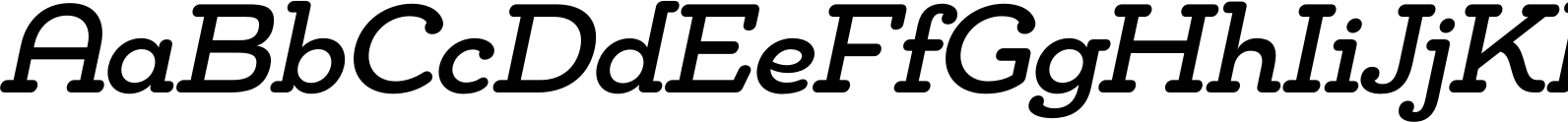 Chennai Slab Medium Oblique Font