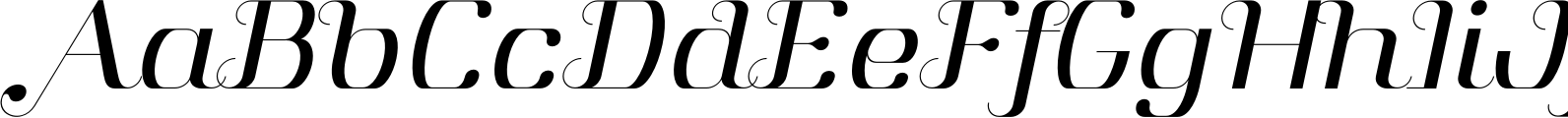 Aston Light Italic