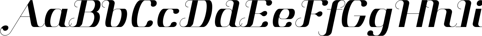 Aston Normal Italic Font