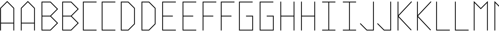 Vektori Super Narrow Font
