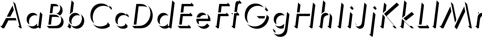 Futura Only Shadow D Light Oblique Font