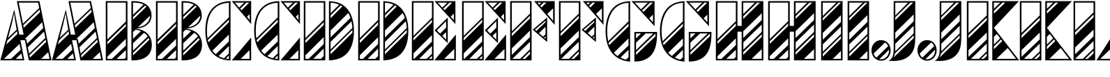 Futura Black Art Deco Stripes Diagonal D Font