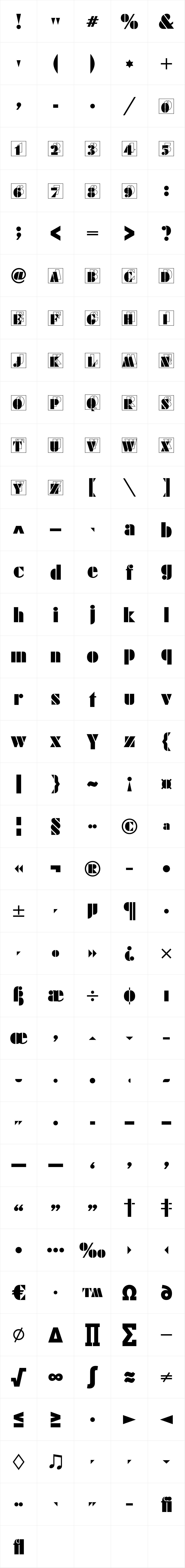 Futura Black Initials D