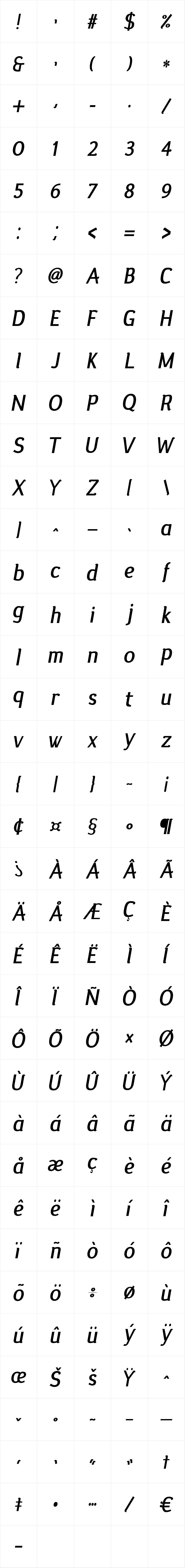 Silent Bold Italic