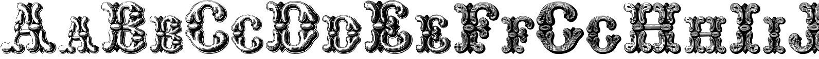 Grotesque and Arabesque Font