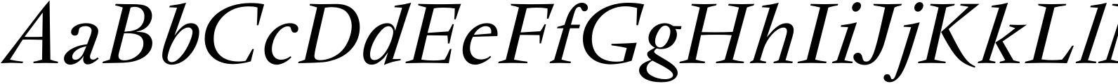 Vendome Regular Italic Font