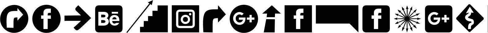 Icons Dingbats Symbols Set