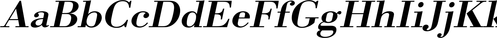 Bodoni URW Extra Wide Medium Oblique Font
