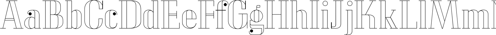 LTC Glamour Hairline Engraved Font