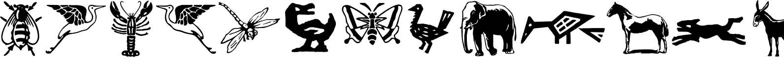 LTC Ornaments Animalia Font