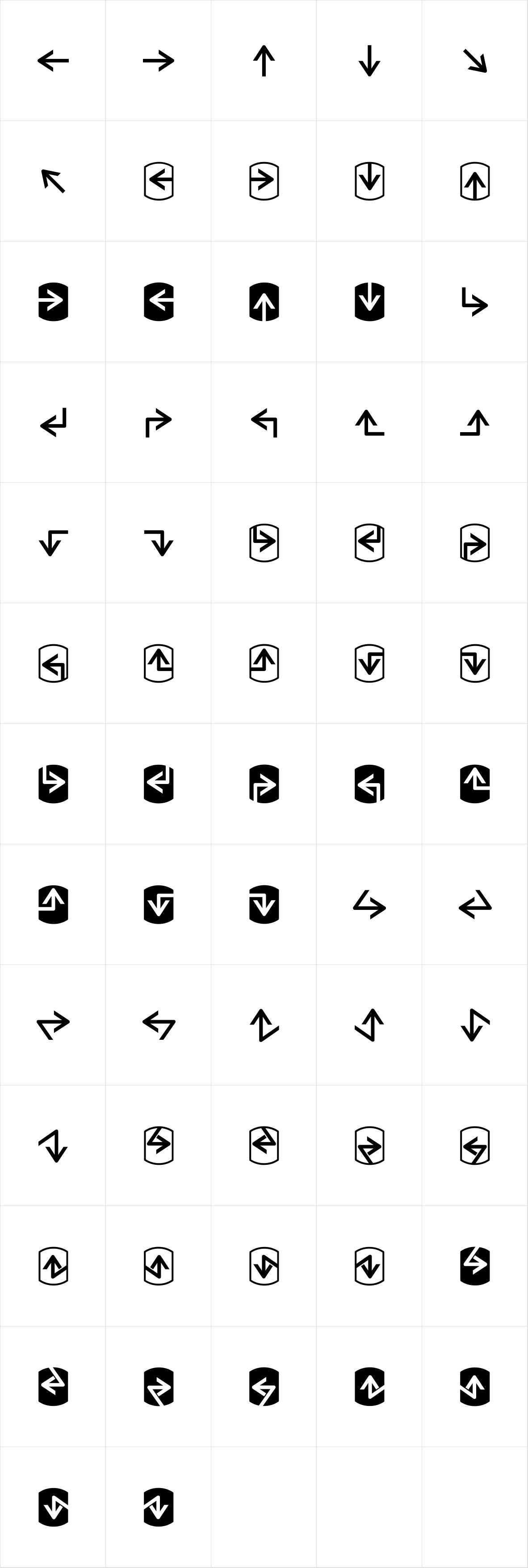 Palm Icons OT Arrows
