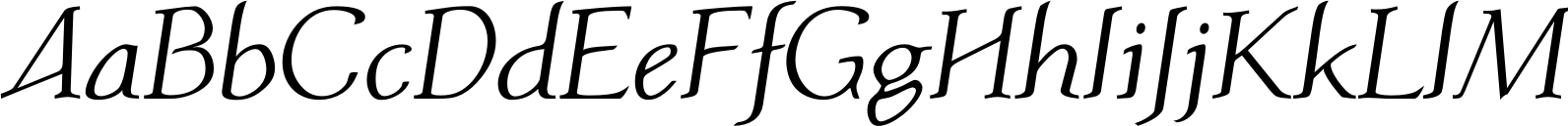 Atlantic Serif Regular Italic Font