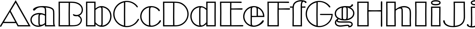 Broadway Outline D Font