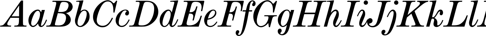 Modern Extended Book Italic Font