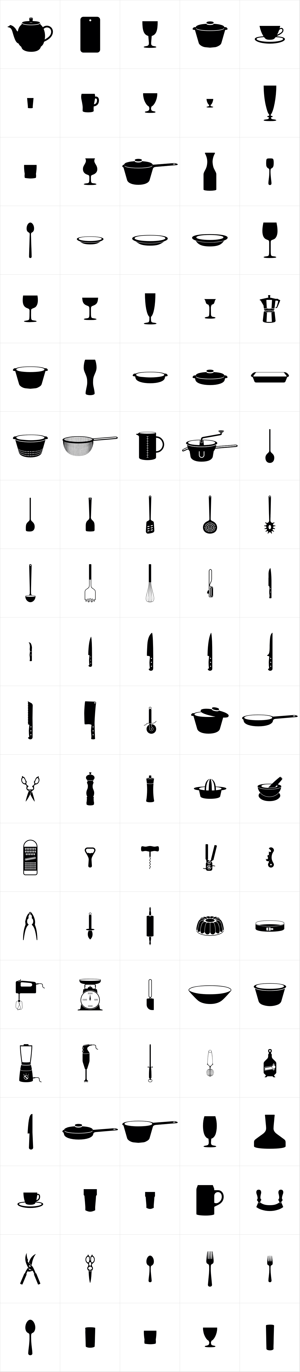 Rene Menue Symbols