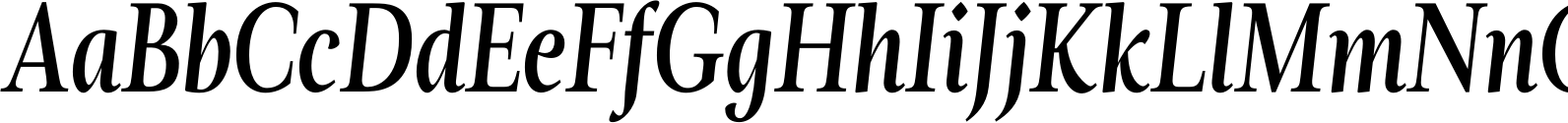 Magneta Condensed Medium Italic Font