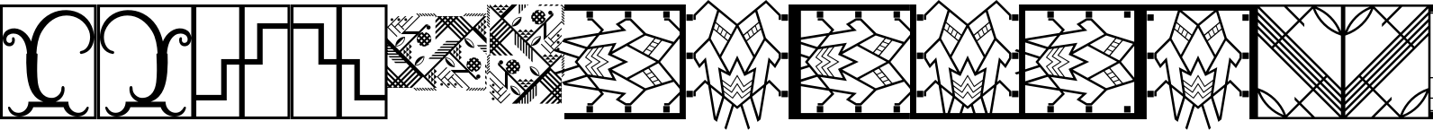 Ornamental Deco 2D Borders