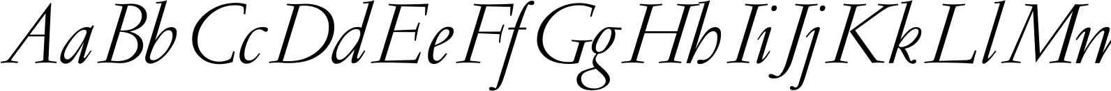 GaramondRR LightItalic