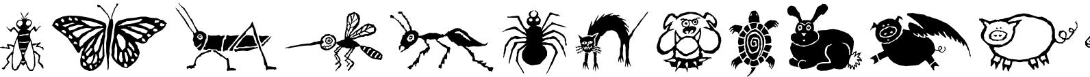 Design Font Wildlife