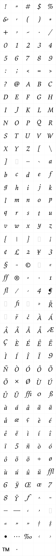 Elysium Book Italic LET