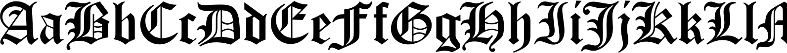 Old English LET Font