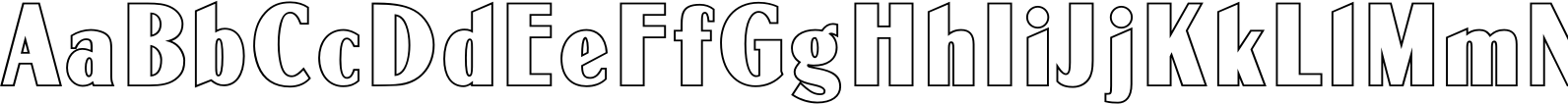 Globe Gothic MN Outline Font
