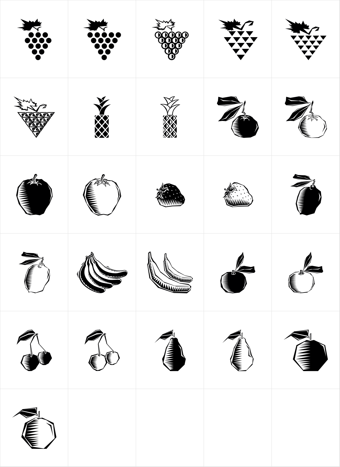 Polytype Fruits One