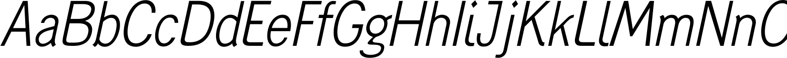 Generation Gothic Condensed Light Italic