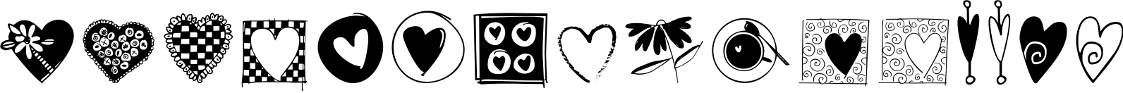 Heart Doodles Too Font